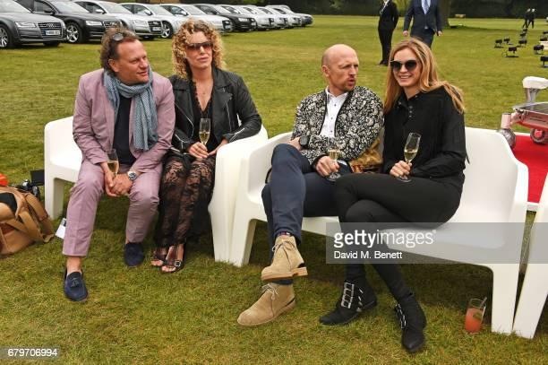 Neil Stuke Sally Ann Stuke Matt Dawson and Carolin Hauskeller attend the Audi Polo Challenge at Coworth Park on May 6 2017 in Ascot United Kingdom