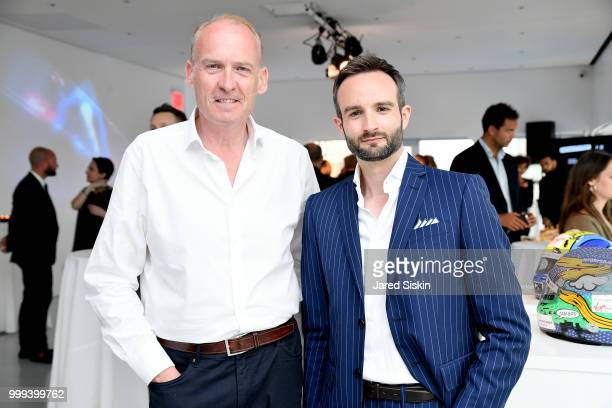Neil Taylor and Andrea Ferrero are seen at 'Art Goes Green' event at The New Museum in New York organized by Kaspersky Lab in Collaboration with DS...