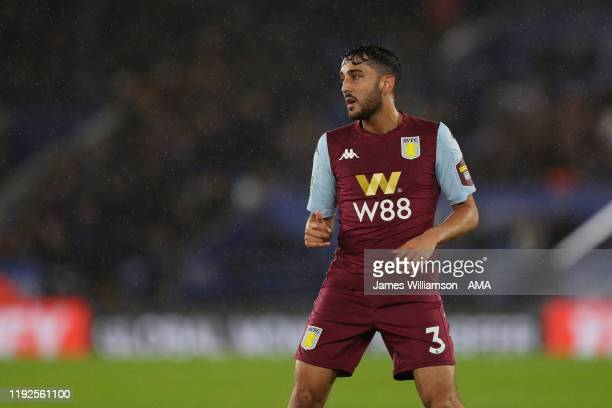 Neil Taylor of Aston Villa during the Carabao Cup Semi Final match between Leicester City and Aston Villa at The King Power Stadium on January 8,...