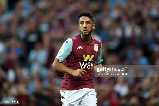Neil Taylor of Aston Villa during the Premier League match between Aston Villa and Everton FC at Villa Park on August 23, 2019 in Birmingham, United...