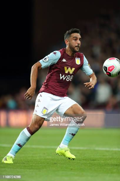 Neil Taylor of Aston Villa during the Premier League match between Aston Villa and West Ham United at Villa Park on September 16, 2019 in Birmingham,...