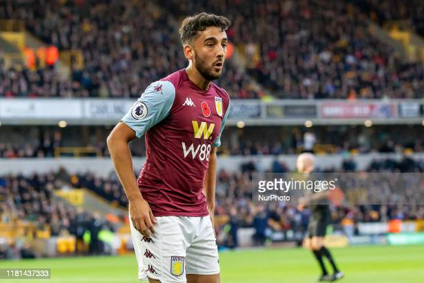 Neil Taylor of Aston Villa during the Premier League match between Wolverhampton Wanderers and Aston Villa at Molineux, Wolverhampton on Sunday 10th...