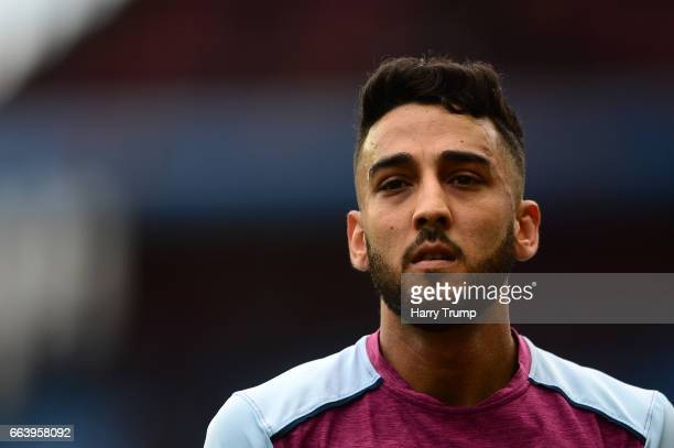 Neil Taylor of Aston Villa during the Sky Bet Championship match between Aston Villa and Norwich City at Villa Park on April 1, 2017 in Birmingham,...