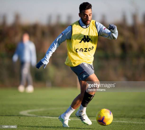 Neil Taylor of Aston Villa in action during a training session at Bodymoor Heath training ground on November 26 2020 in Birmingham England