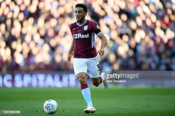 Neil Taylor of Aston Villa in action during the Sky Bet Championship match between Aston Villa and Swansea City at Villa Park on October 20, 2018 in...