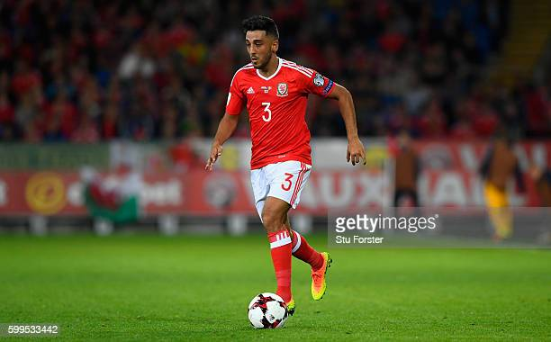 Neil Taylor of Wales in action during the FIFA 2018 Group D World Cup Qualifier between Wales and Moildova at Cardiff City Stadium on September 5,...
