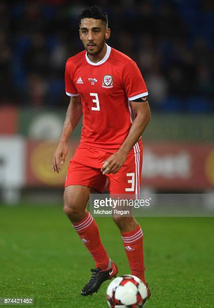 Neil Taylor of Wales in action during the International match between Wales and Panama at Cardiff City Stadium on November 14, 2017 in Cardiff, Wales.