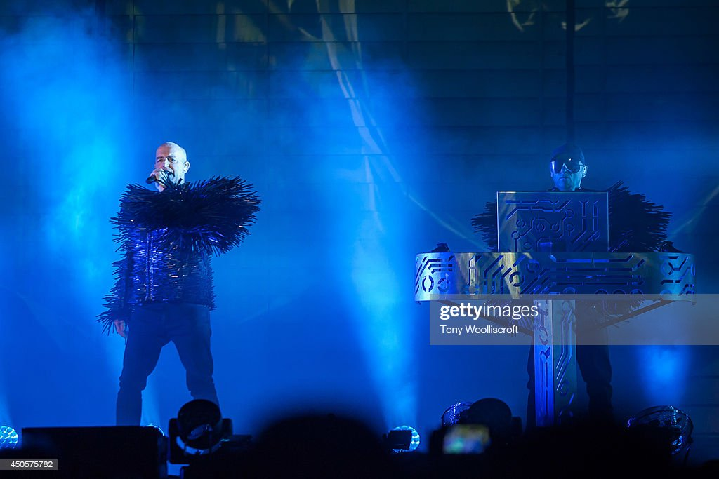 The Pet Shop Boys Perform At The LG Arena : News Photo