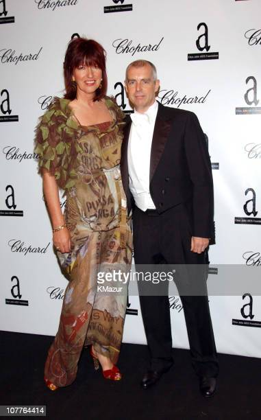 Neil Tennant and Janet Street Porter during The 6th Annual White Tie Tiara Ball to Benefit the Elton John Aids Foundation in Association with Chopard...
