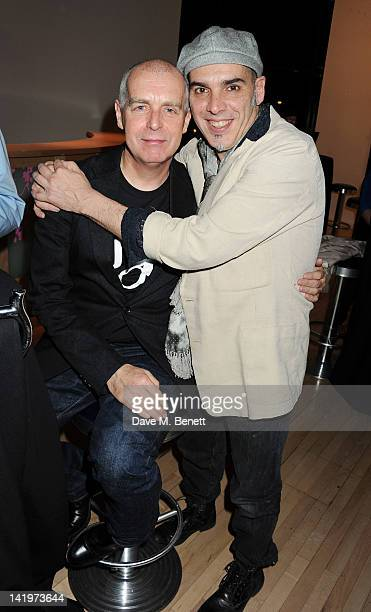 Neil Tennant and Javier De Frutos attend an after party celebrating the press night performance of 'The Most Incredible Thing', a collaboration...