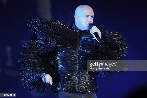 Neil Tennant and Pet Shop Boys perform at Fillmore Miami Beach on September 12 2013 in Miami Beach Florida