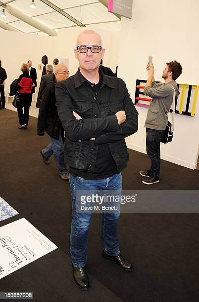Neil Tennant attends a VIP Preview of the Frieze Art Fair in Regent's Park on October 10 2012 in London England