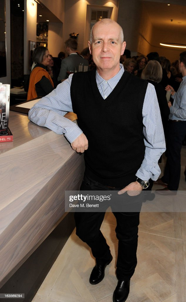 Neil Tennant attends the launch of Louise Fennell's new book 'Fame Game' at Grace Belgravia on March 12, 2013 in London, England.