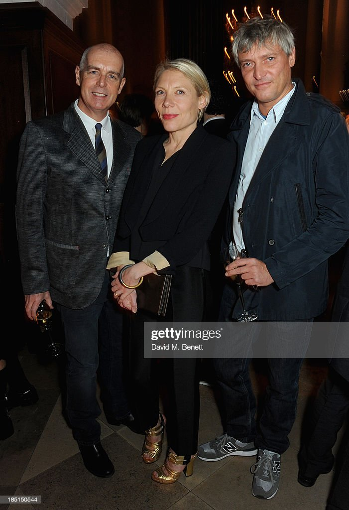 Neil Tennant, Emily King and Daniel Buchholz attends the Alexander McQueen and Frieze Dinner to celebrate the Frieze Art Fair 2013 on October 17, 2013 in London, England.