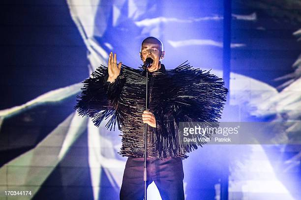Neil Tennant from Pet Shop Boys performs at Le Grand Rex on June 11 2013 in Paris France