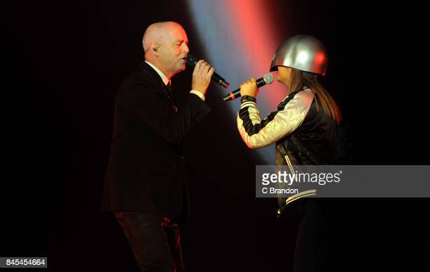 Neil Tennant of Pet Shop Boys headlines on The Castle Stage during Day 4 of Bestival at Lulworth Castle on September 10 2017 in Wareham England