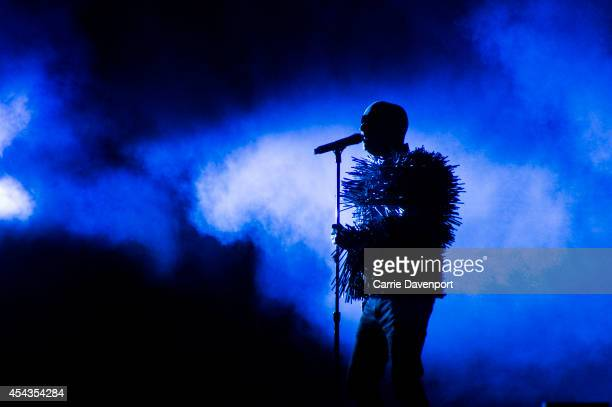 Neil Tennant of Pet Shop Boys performs on stage at Electric Picnic at Stradbally Estate on August 29 2014 in Stradbally Ireland