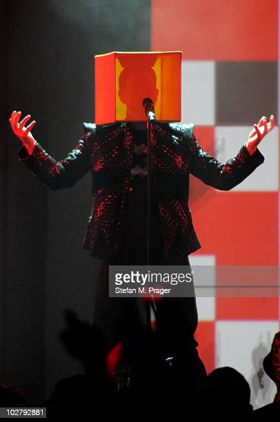 Neil Tennant of Pet Shop Boys performs on stage at Tollwood Festival on July 10 2010 in Munich Germany