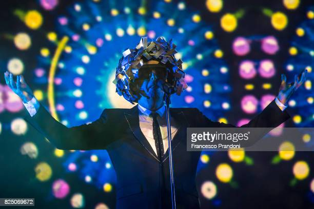 Neil Tennant of Pet Shop Boys performs on stage during Lucca Summer Festival 2017 on July 31 2017 in Lucca Italy