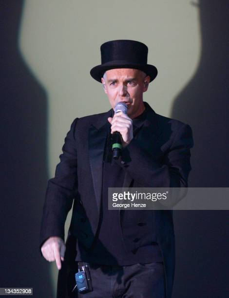 Neil Tennant of the Pet Shop Boys during Pet Shop Boys in Concert at the RAI Theatre in Amsterdam May 22 2007 at RAI Theatre in Amsterdam Netherlands