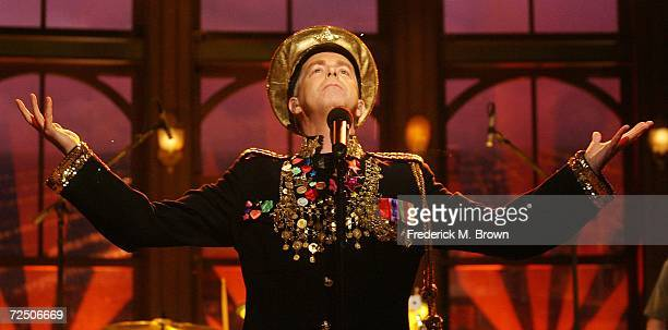 Neil Tennant of the Pet Shop Boys performs during a segment of The Late Late Show with Craig Ferguson at CBS Television Studios on November 10 2006...