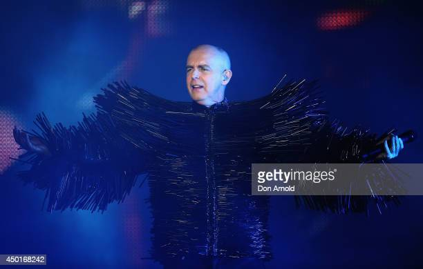 Neil Tennant of The Pet Shop Boys performs live for fans at Carriageworks on June 6 2014 in Sydney Australia The Pet Shop Boys performance is part of...