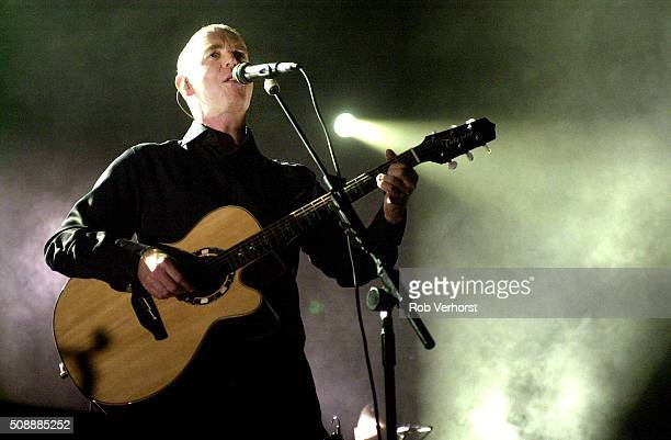 Neil Tennant of the Pet Shop Boys performs on stage at Heineken Music Hall Amsterdam Netherlands 27th June 2002