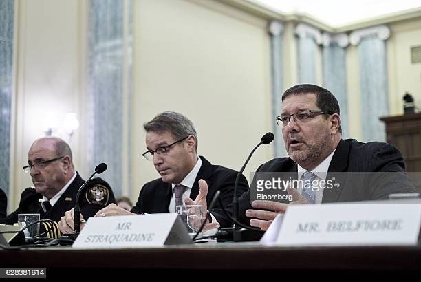 Neil Trugman interim chief of police for Amtrak from left Chris Spear president and chief executive officer of the American Trucking Associations and...