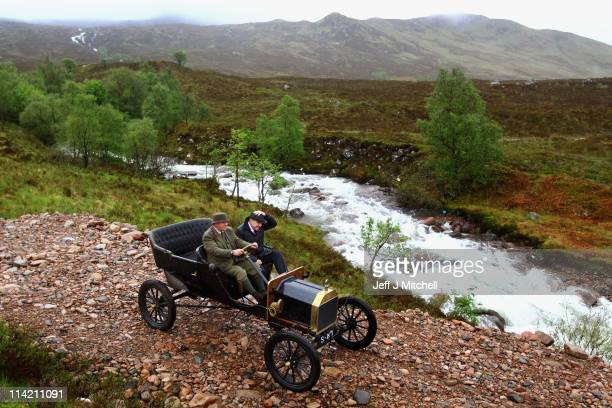 Neil Tuckett and Jamie Davidson begin their attempt to drive a 1911 Model T Ford to the top of Ben Nevis on May 162011 in Fort William Scotland The...