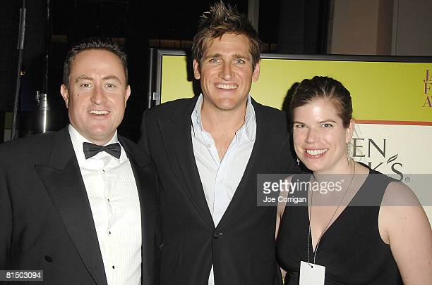 Neil Turpin general manager at Green Black's Organic TV personality Curtis Stone and Katie Butler associate brand manager at Green and Black's...