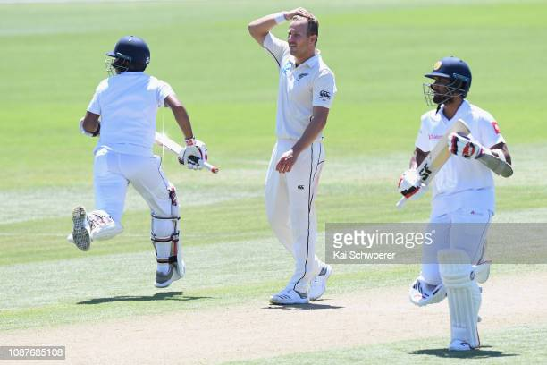 Neil Wagner of New Zealand reacts during day four of the Second Test match in the series between New Zealand and Sri Lanka at Hagley Oval on December...