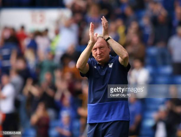Neil Warnock Manager of Cardiff City after the Premier League match between Chelsea FC and Cardiff City at Stamford Bridge on September 15 2018 in...