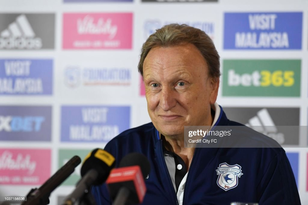 Cardiff City Training and Press Conference : News Photo