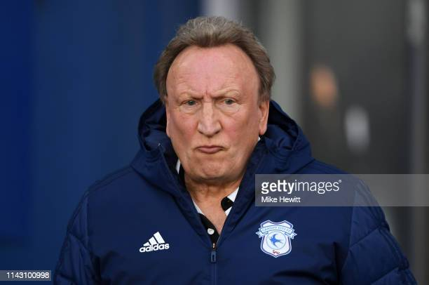 Neil Warnock Manager of Cardiff City during the Premier League match between Brighton Hove Albion and Cardiff City at American Express Community...