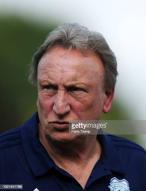 Neil Warnock manager of Cardiff City during the PreSeason Friendly match between Bodmin Town and Cardiff City at Priory Park on July 18 2018 in...