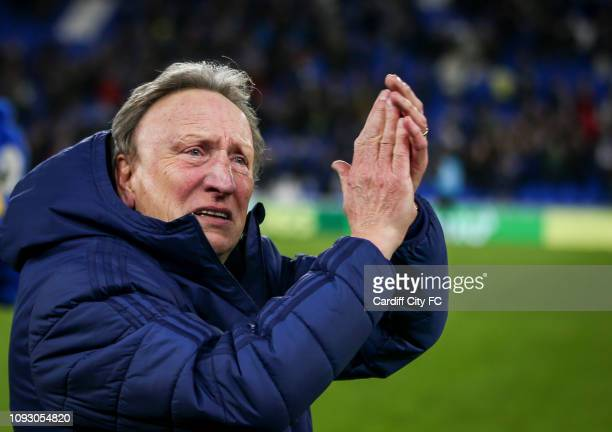 Neil Warnock Manager of Cardiff City looking visibly upset at the full time whistle after the Premier League match between Cardiff City and AFC...
