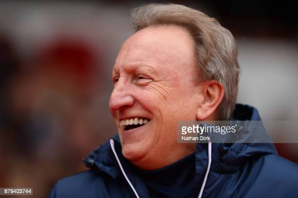 Neil Warnock manager of Cardiff City looks on during the Sky Bet Championship match between Nottingham Forest and Cardiff City at City Ground on...