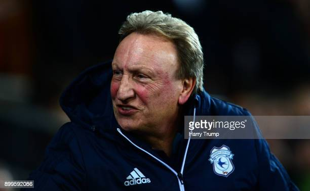 Neil Warnock Manager of Cardiff City looks on during the Sky Bet Championship match between Cardiff City and Preston North End at Cardiff City...