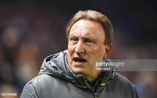 Neil Warnock manager of Cardiff City looks on prior to the Sky Bet Championship match between Brighton Hove Albion and Cardiff City at Amex Stadium...
