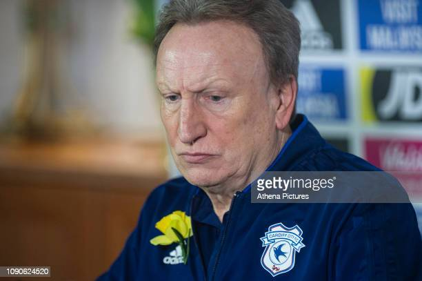 Neil Warnock Manager of Cardiff City speaks as Cardiff City FC hold their first press conference since the disappearance of Emiliano Sala at The Vale...