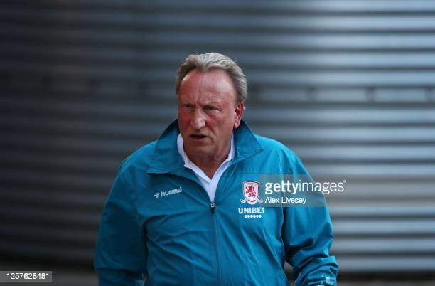 Neil Warnock manager of Middlesbrough during the Sky Bet Championship match between Sheffield Wednesday and Middlesbrough at Hillsborough Stadium on...