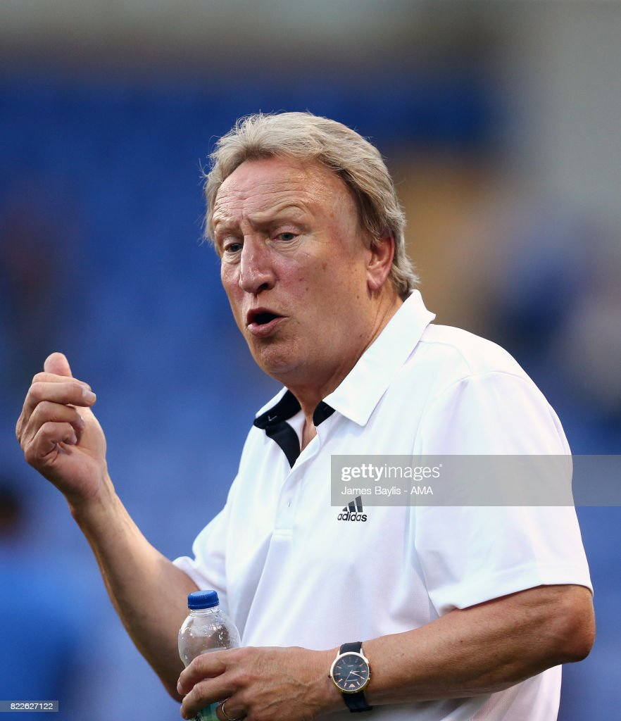 Neil Warnock the first team manager of Cardiff City during the pre-season friendly between Shrewsbury Town and Cardiff City at The Montgomery Waters Meadow on July 25, 2017 in Shrewsbury, England.