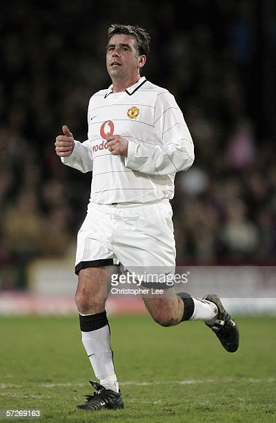 Neil Webb of Manchester United in action during the Geoff Thomas Testimonial match between Crystal Palace and Manchester United at Selhurst Park on...