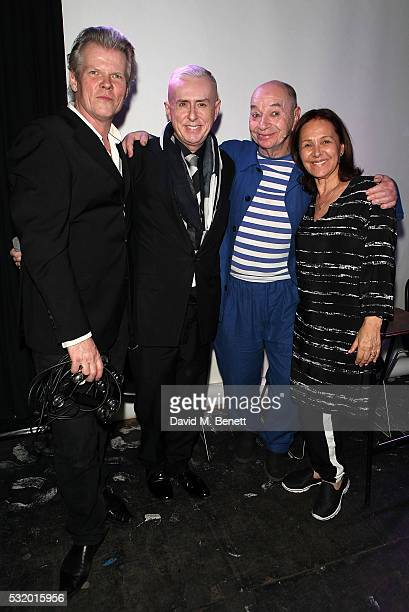 Neil Whitmore, Holly Johnson, Lindsay Kemp and Arlene Phillips attend 'Lindsay Kemp: My Life & Work With David Bowie - In Conversation With Marc...