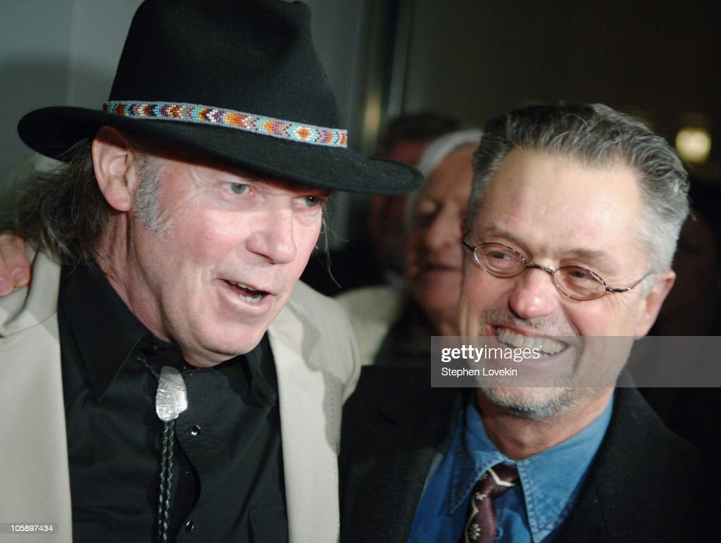 Neil Young and Jonathan Demme during New York Special Screening of 'Neil Young: Heart of Gold' at Walter Reade Theatre at Lincoln Center in New York City, New York, United States.