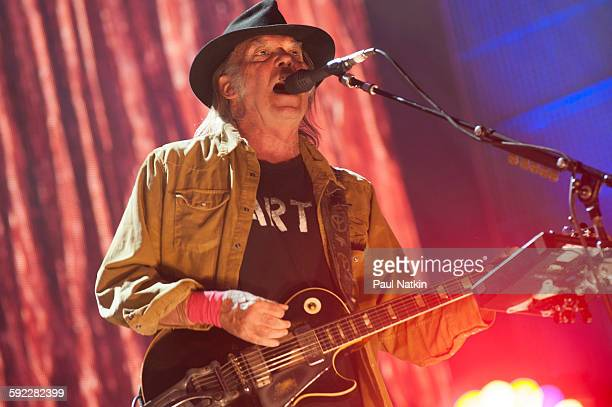 Neil Young at Farm Aid at the First Merit Bank Pavillion at Northerly Island on September 19th 2015 in Chicago Illinois