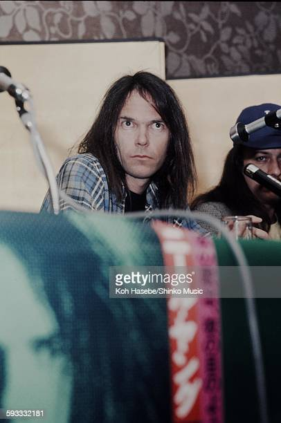 Neil Young at press conference Tokyo March 1976