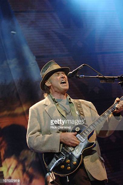 Neil Young during Farm Aid 2006 Presented by Silk Soymilk Concert at Tweeter Center at the Waterfront in Camden New Jersey United States