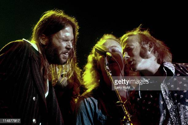Neil Young Graham Nash David Crosby and Steven Stills perform at Winterland Arena in San Francisco California on October 4 1973
