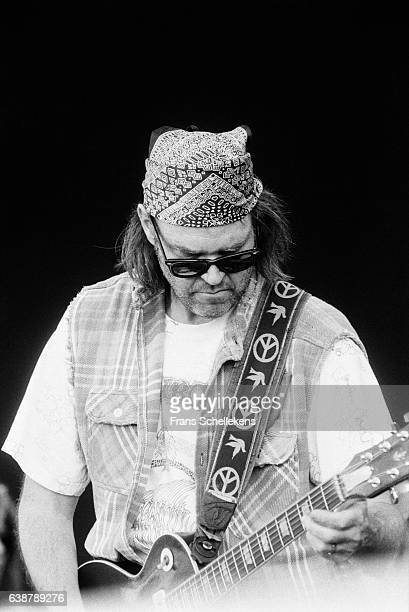 Neil Young, guitar and vocals, performs at Torhout festival on July 3rd 1993 in Torhout, Belgium.